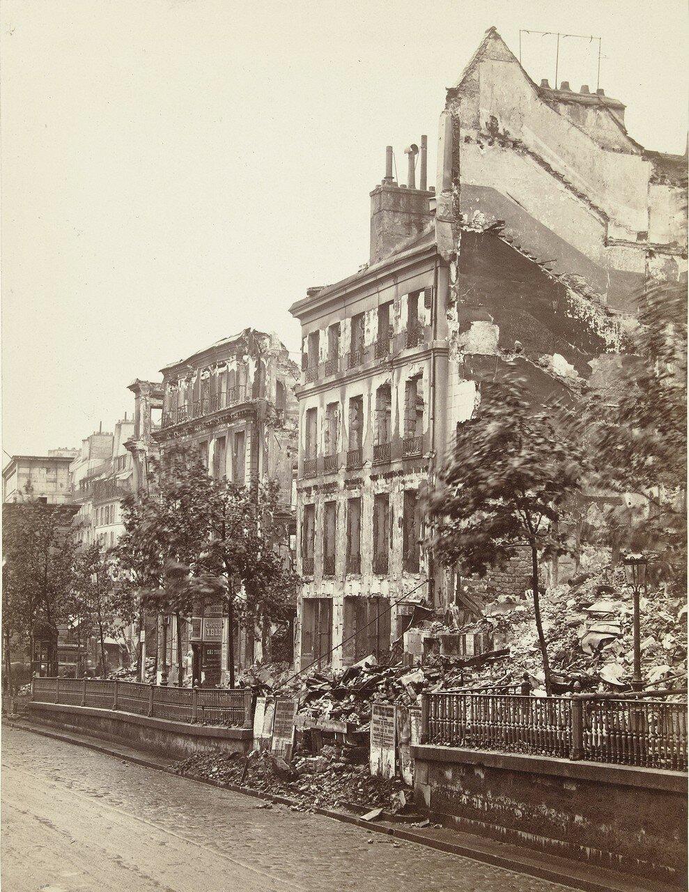 1871.Театр порта Сен-Мартен, разрушенный во время боевых действий