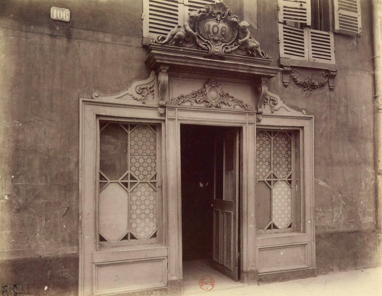 1910. Вход в бордель, авеню Сюффран, 106