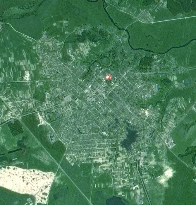 Карта города Мстиславль