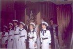 "г. Кисловодск. Июль 2005 г. Детский хор исполняет ""Песнь партизан"" Анны Марли в театре-музее ""Благодать"""
