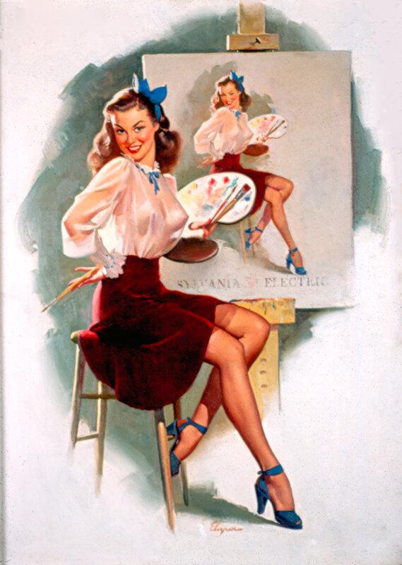 Марта, открытки с девушками в стиле пин ап