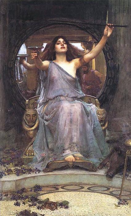 Уотерхаус Джон Уильям, Цирцея, завлекающая Одиссея, 189