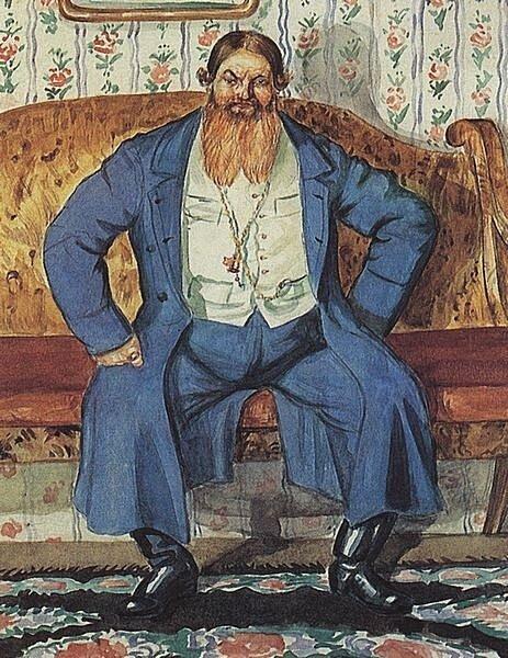 Купец Смирнов - один из первых оптовых покупателей Брокара, Б. Кустодиев