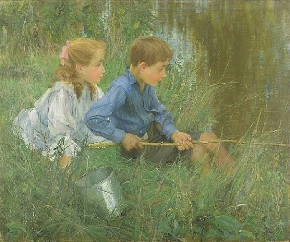 Francis Coates Jones, The Trout Pool (Форель Бассейн)