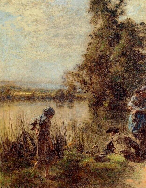 "Lhermitte Leon Augustin ""Рыбак и его семья"""