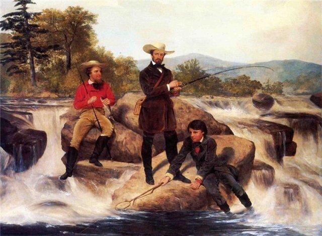Junius Brutus Stearns Форелевая рыбалка 1853 г.