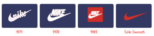 nike logo evolution
