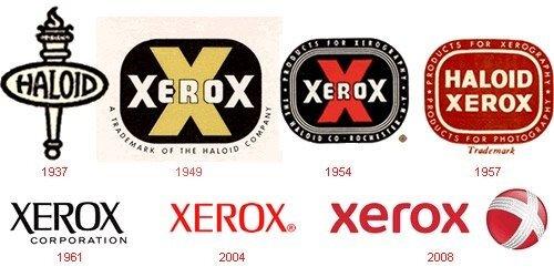 xerox logo evolution