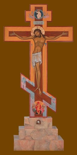 Голгофский Крест. Высота 280 см. 2000 год. Мастерская Е.Ильинской