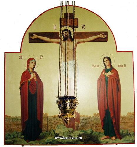 Иисус Христос на Кресте с предстоящими Божией Матерью и Иоанном Богословом Церковь во имя иконы Божией Матери Знамение в р-не Котловка