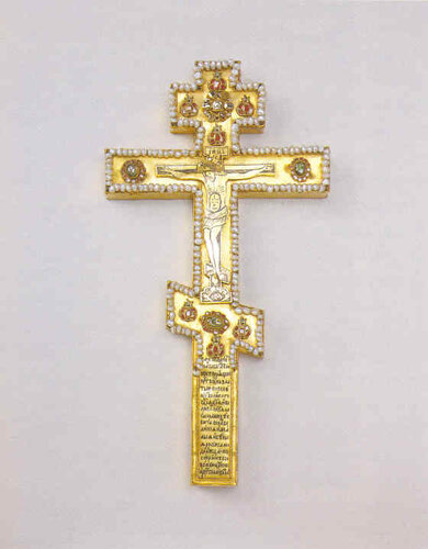 Крест напрестольный. Вклад царя Федора Алексеевича 1677 г. Мастерские Кремля. Архангельский собор