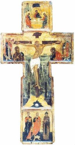 Икона-крест. XVI век. Остров Анзер. Cоловки.