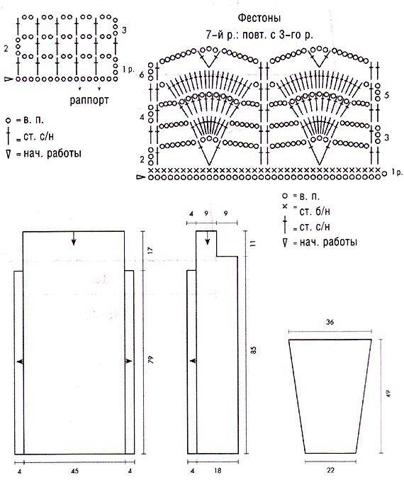 кардиган схема вязания и выкройка кардигана