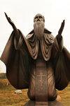 У святого источника. Преподобный Ферапонт. скульптура.