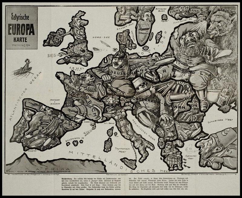 Старинные сатирические карты на тему войны