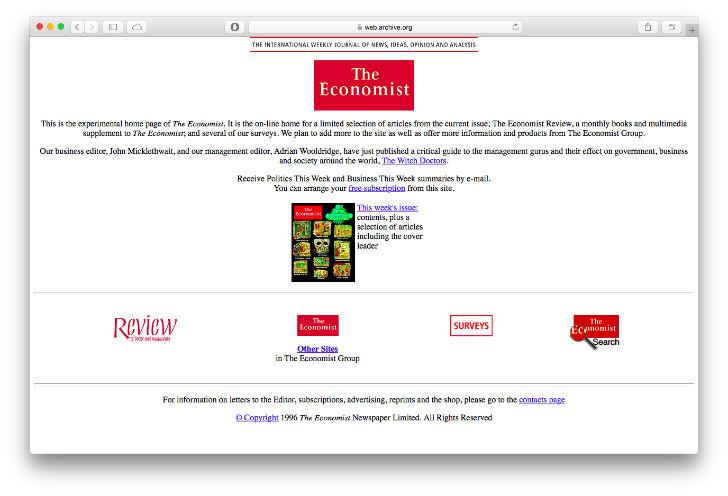 Сайт американской сети ресторанов Pizza Hut был запущен в 1994 году. На сайте можно было заказать ил