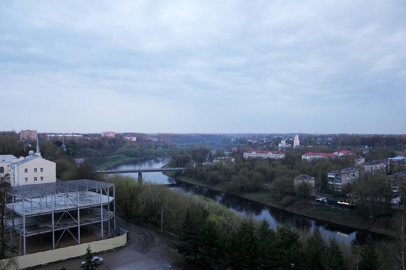 Вид из окна гостиницы Ржев