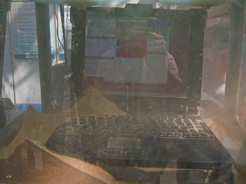 Промышленный защищенный ноутбук TS Strong@Master. Успешные испытания на устойчивость к воздействию пыли и повышенной температуры +55°С.