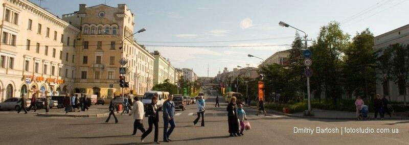 Центр города Магадан. Отсюда начинается знаменитое колымское шоссе - фотограф Дмитрий Бартош