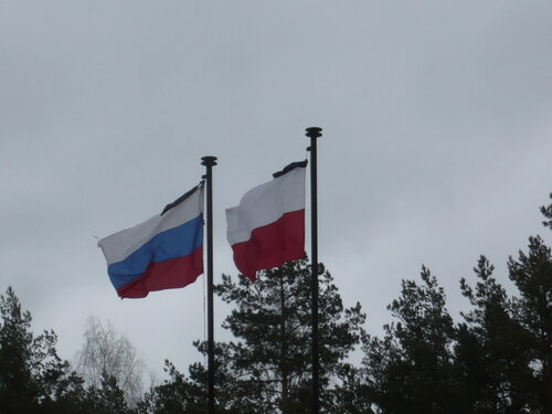 флаги польской речи посполитой и рф