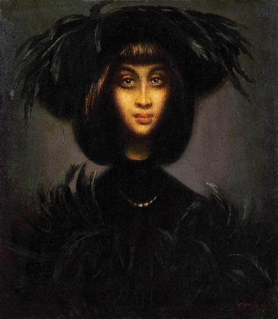Гиви Сипрошвили, Портрет дамы в шляпе с перьями