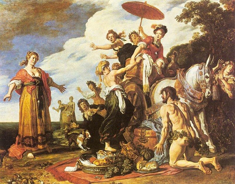 Питер Ластман, Одиссей и Навсикая». 1619