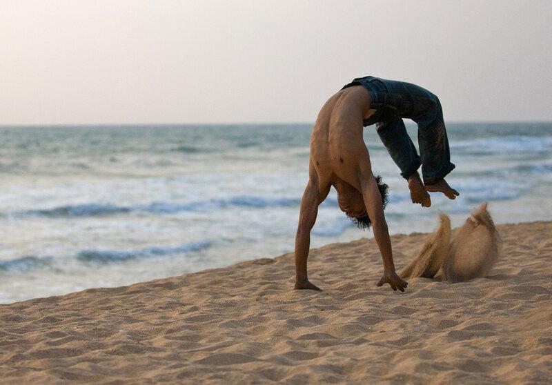Акробат-Ушуист.  Шри-Ланка.