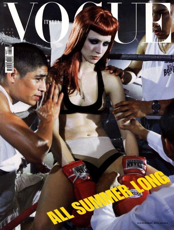 фотомодель фотографы модели мода fashion story fashion  Нокаут Стивена Майзела для итальянского Vogue, июнь 2002