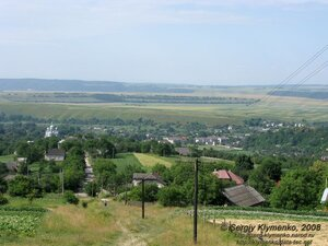 Коропець, Тернопільська область. Вид на селище згори.Фото Клименко Сергія