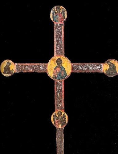 Крест выносной (запрестольный) Начало XVI в. Аверс