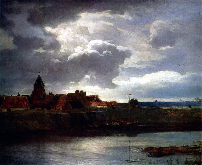 Landschaft mit Fluß