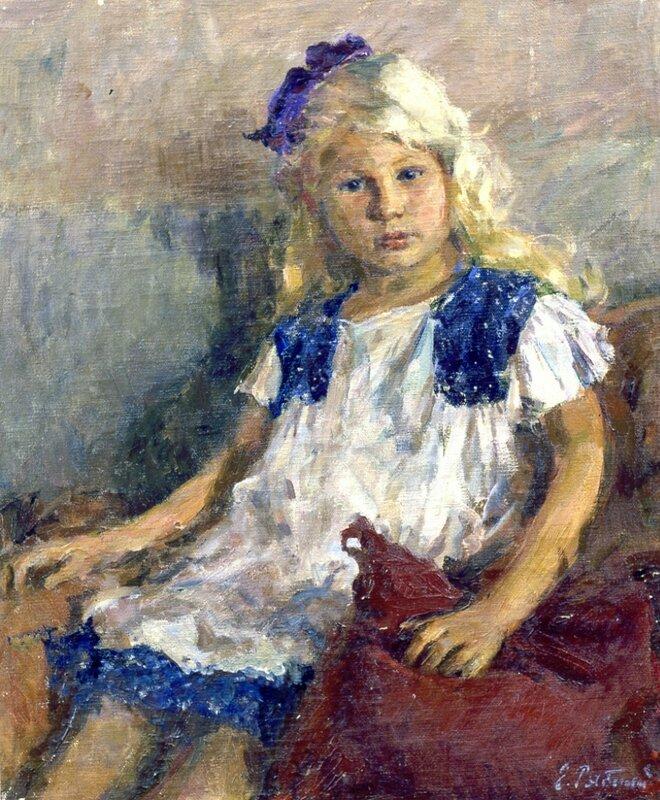 Е.В. Рябинский. Людочка. 1952