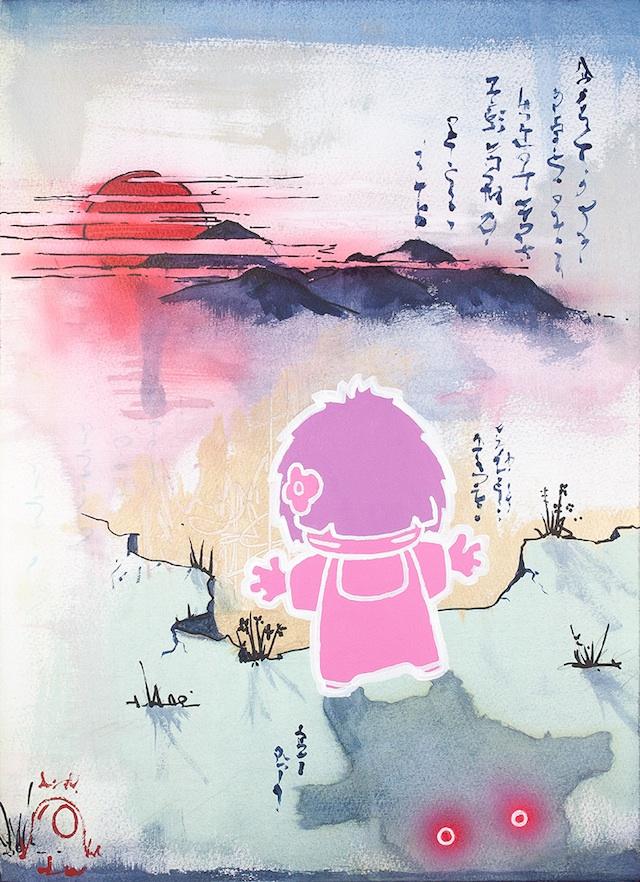 Очаровательный арт в японском стиле Тома Льюиса