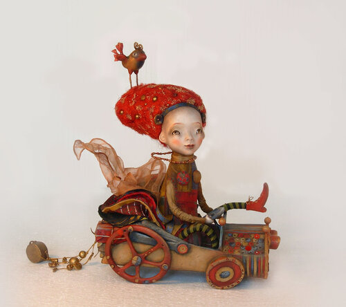 City trip – art doll by Anna Zueva