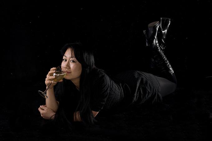 фотосъемка портфолио в студии. Портреты киргизской девушки
