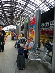 Ж\д вокзал в Кёльне.