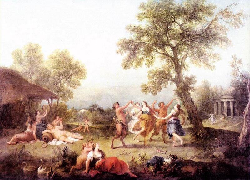 Франческо Дзукарелли, 1740-50 гг.Венеция, галерея Академии , Вакханалия