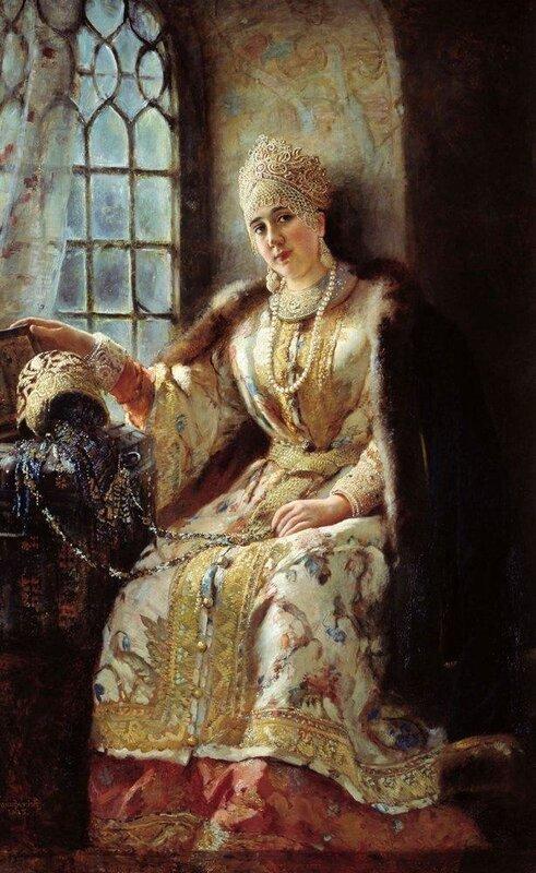 К. Маковский, Боярышня у окна