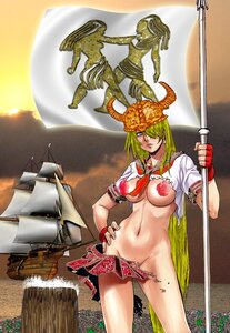Девушка в стиле викинга, Апарышев.