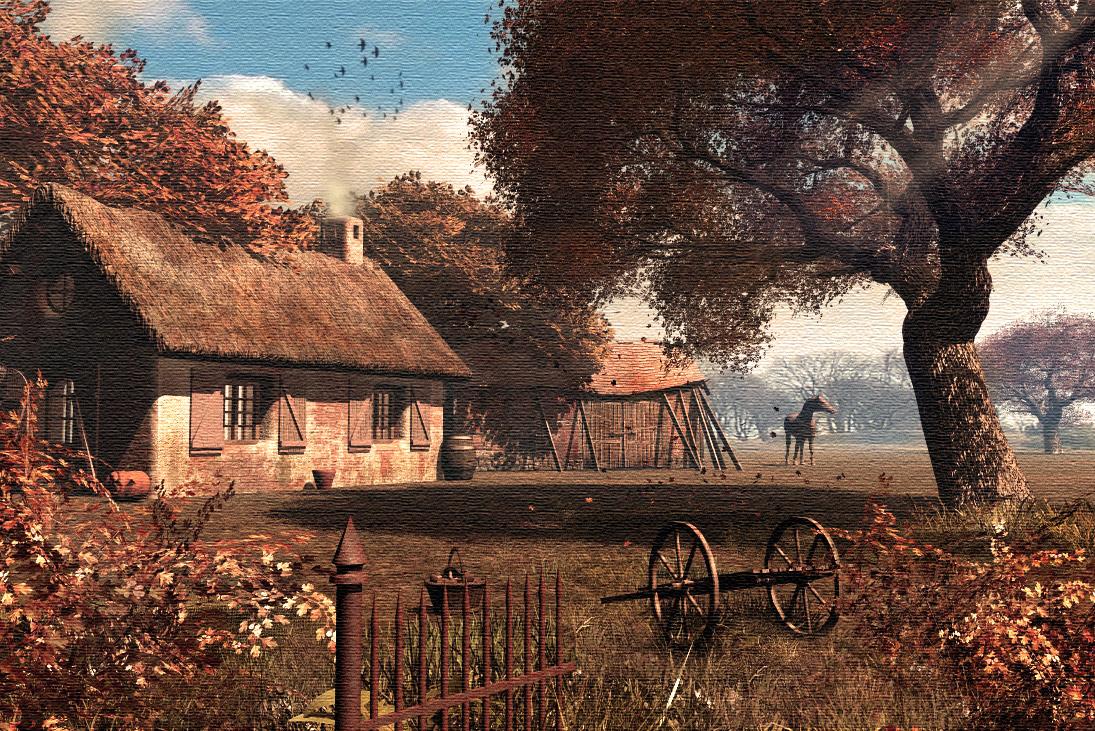 Autumn Vue On Canvas