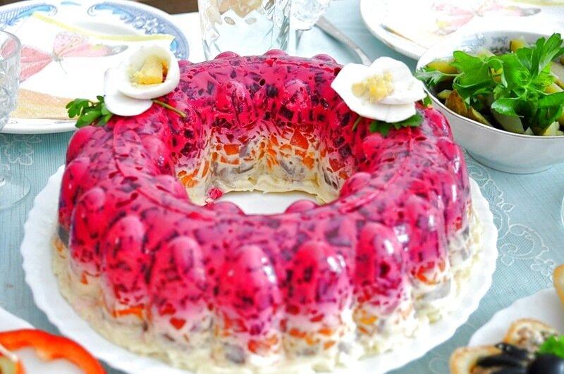 Салат под шубой с желатином пошаговый рецепт с