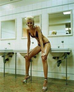купальник и Diana Meszaros by Steven Meisel in Vogue Italia June 2001