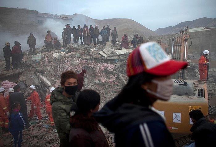 землетрясение китай цинхай фото