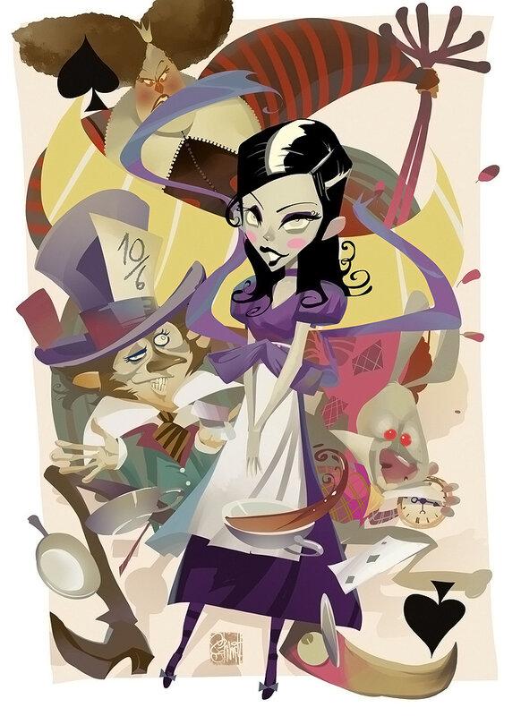 иллюстрации Оtto von Todd,Алиса и остальные.