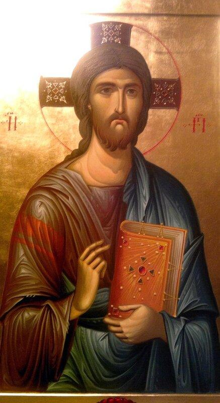 Христос Вседержитель. Иконописец Зураб Модебадзе.