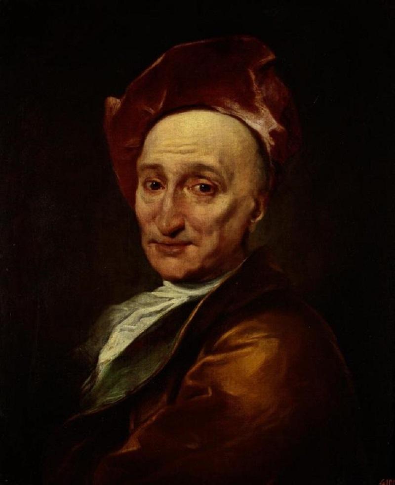 э Hyacinthe Rigaud - Bildnis des Schriftstellers und Philosophen Bernard Bovier le Fontenelle..jpg