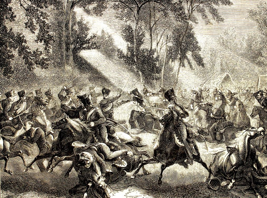 85 Combate del general Exelmans contra la caballeria prusiana de Rocquencourt Борьба с Генеральным Exelmans против прусской кавалерии.jpg