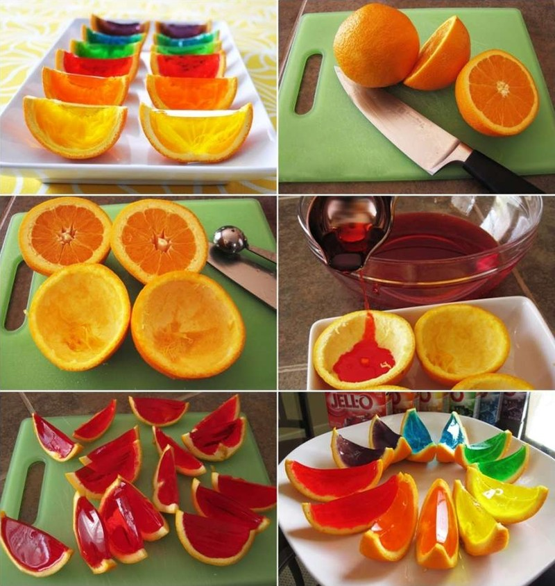 10. Яркое желе с фруктами.