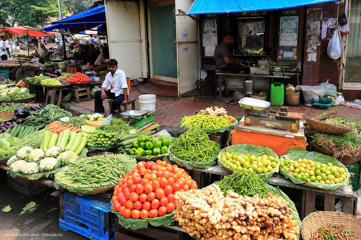 Фотография 21. Колабский рынок (Colaba Market) в Мумбаи,. Поездка в Индию самостоятельно. Отзывы туристов из России.(24-70, 1/250, -1eV, f8, 24 mm, ISO 100)