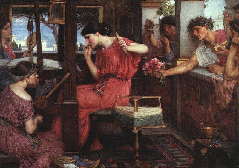 Джон Уильям Уотерхаус, Пенелопа, ждущая Одиссея, 1890